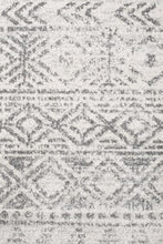 Load image into Gallery viewer, Oasis Ismail White Grey Rustic Runner Rug