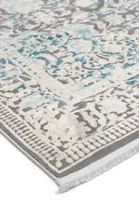 Reflection Blue Rug freeshipping - Rug Empire