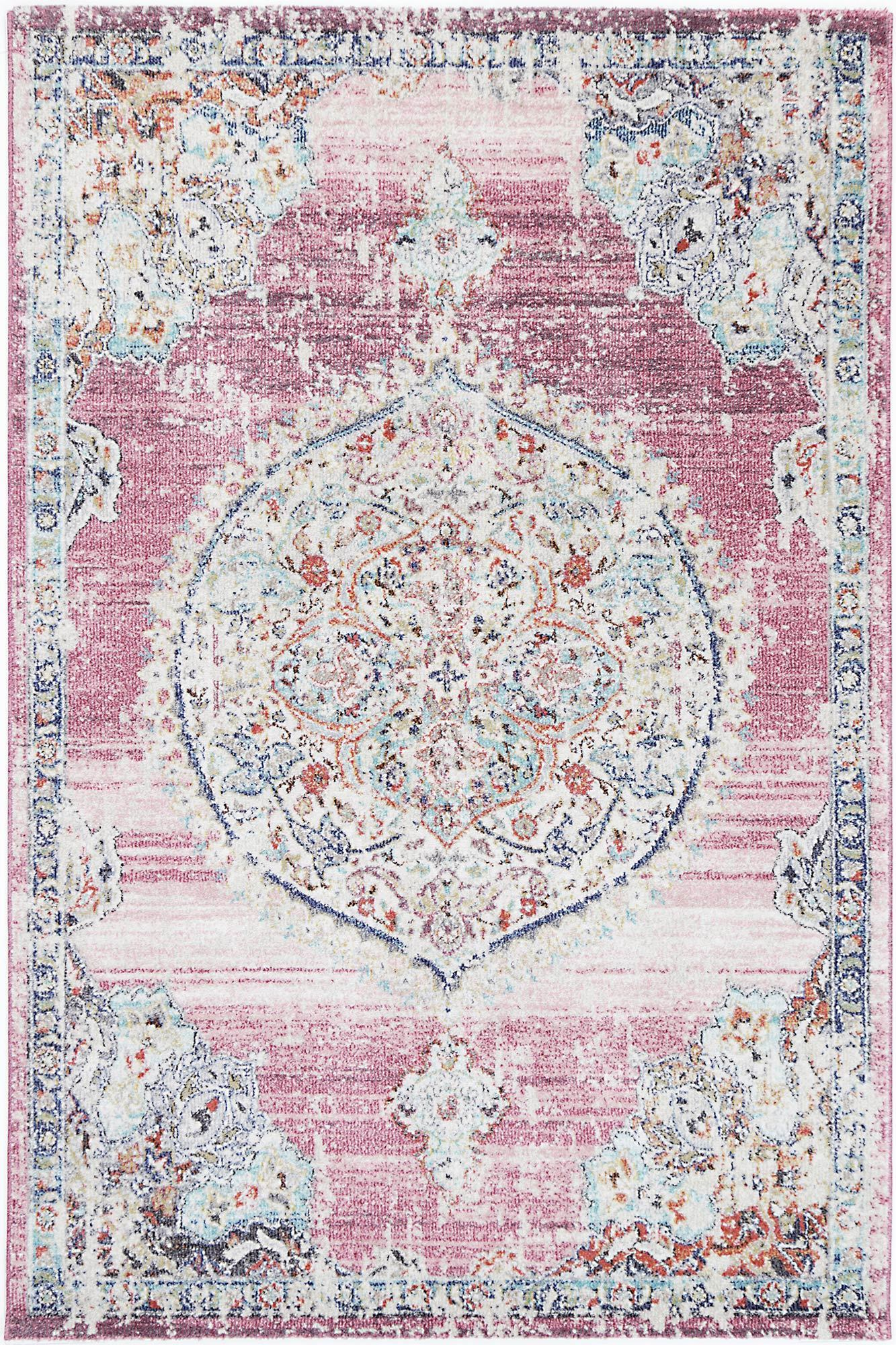 Sans Souci Medalion Transitional Blush Rug - Rug Empire