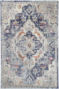 Sans Souci Transitional Navy Multi Rug - Rug Empire