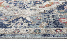 Load image into Gallery viewer, Sans Souci Transitional Navy Multi Rug - Rug Empire