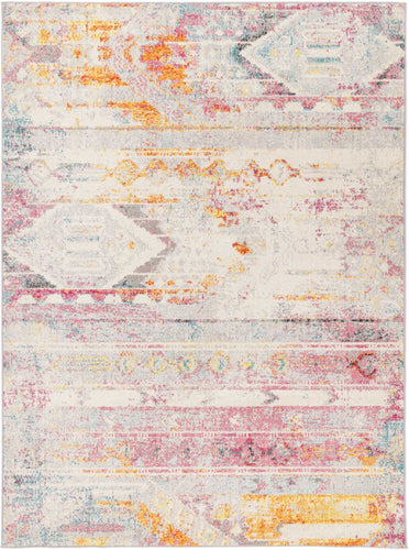 Asmee Multi Sunset Geometric Rug freeshipping - Rug Empire