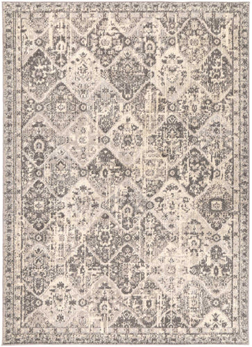 Asmee Grey/Black Diamond Rug freeshipping - Rug Empire