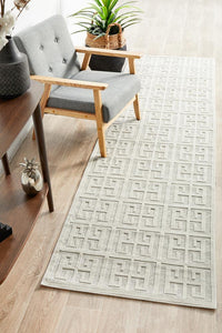 Watson Natural White Runner Rug freeshipping - Rug Empire