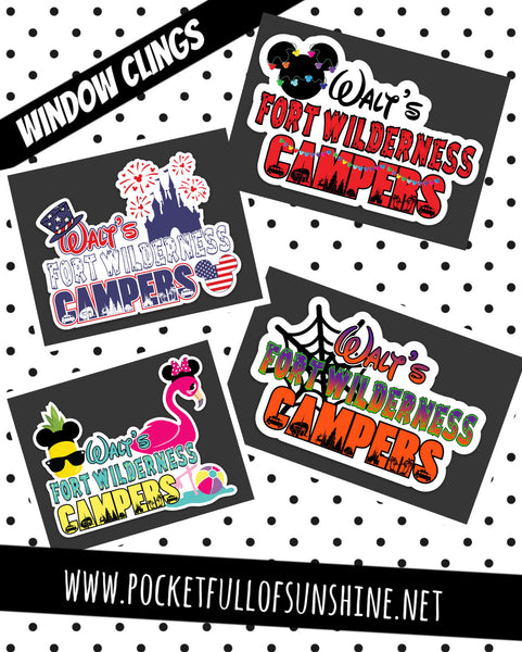 Walt's Logo Window Cling Collection