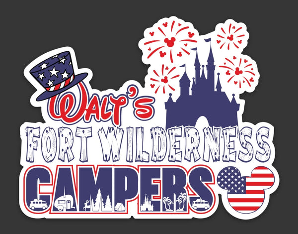 Walt's Patriotic Logo Window Cling