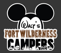 Walt's Fort Wilderness Campers Logo Sticker