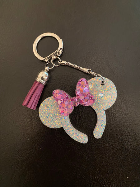Mouse Ears Headband Keychain