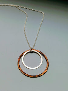 Copper Sterling Halo Pendant