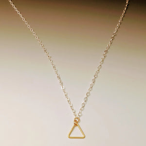 Triangle Pendant Drop Necklace
