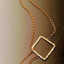 Load image into Gallery viewer, Linked Squares Slide Necklace