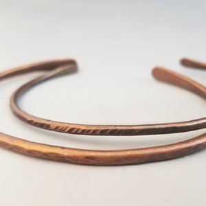 Copper Stack Bracelets (Set of 2)