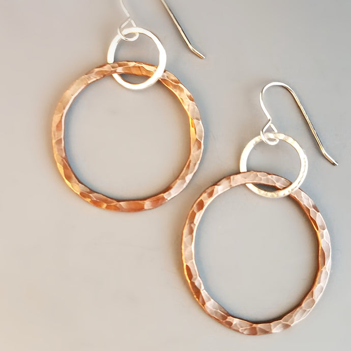 Mixed Texture Hoop Earrings