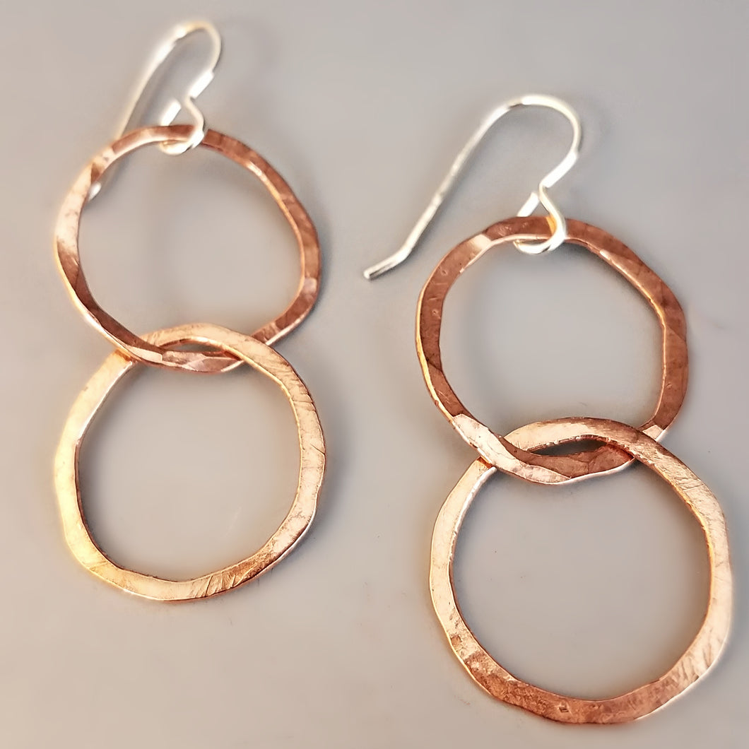 Interlocking Hoop Earrings