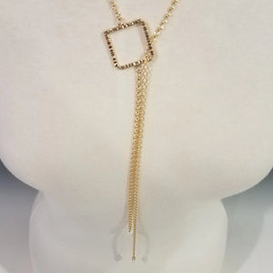 Linked Squares Slide Necklace