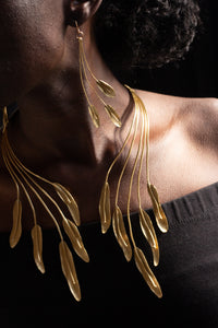 Cascading Leaves of Gold Neck Piece