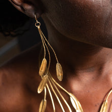 Load image into Gallery viewer, Cascading Leaves of Gold Earrings