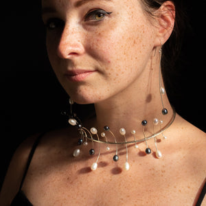 Dancing Pearls Neck Piece