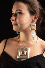 Load image into Gallery viewer, Square Meets Rectangle Earrings