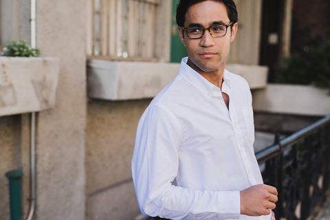The white button-up shirt for short men