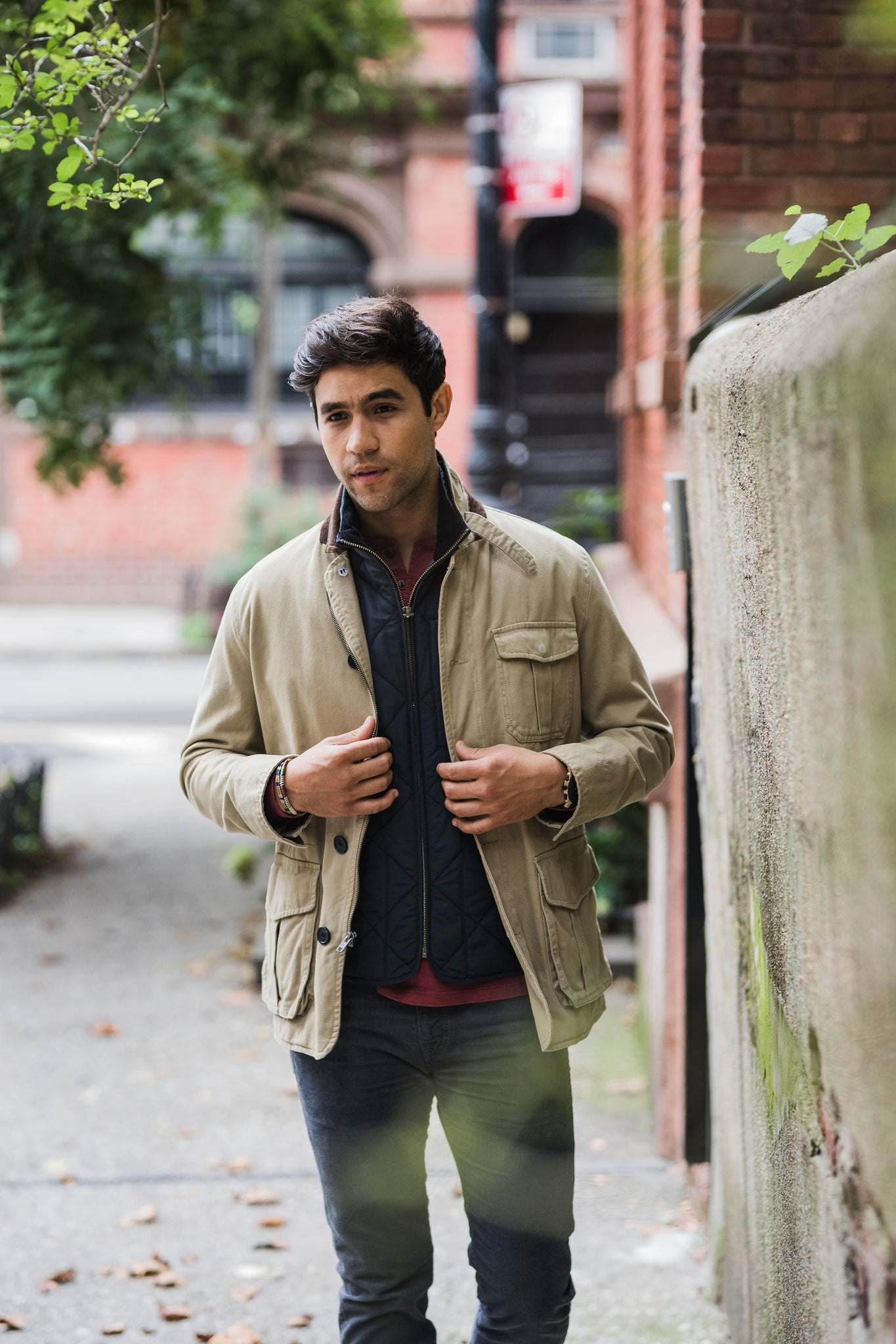 Tribeca Field Jacket in tan