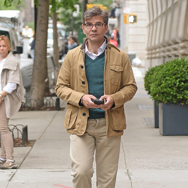 George Stephanopoulos wearing Tribeca field jacket