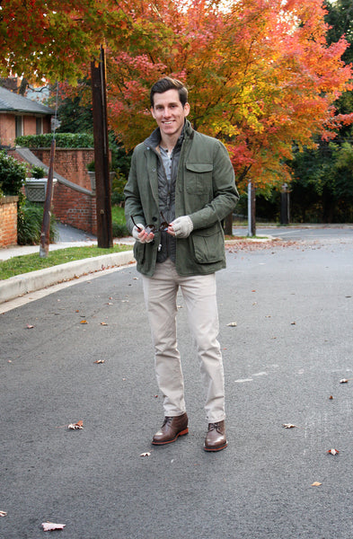 The Modest Man wearing Tribeca field jacket