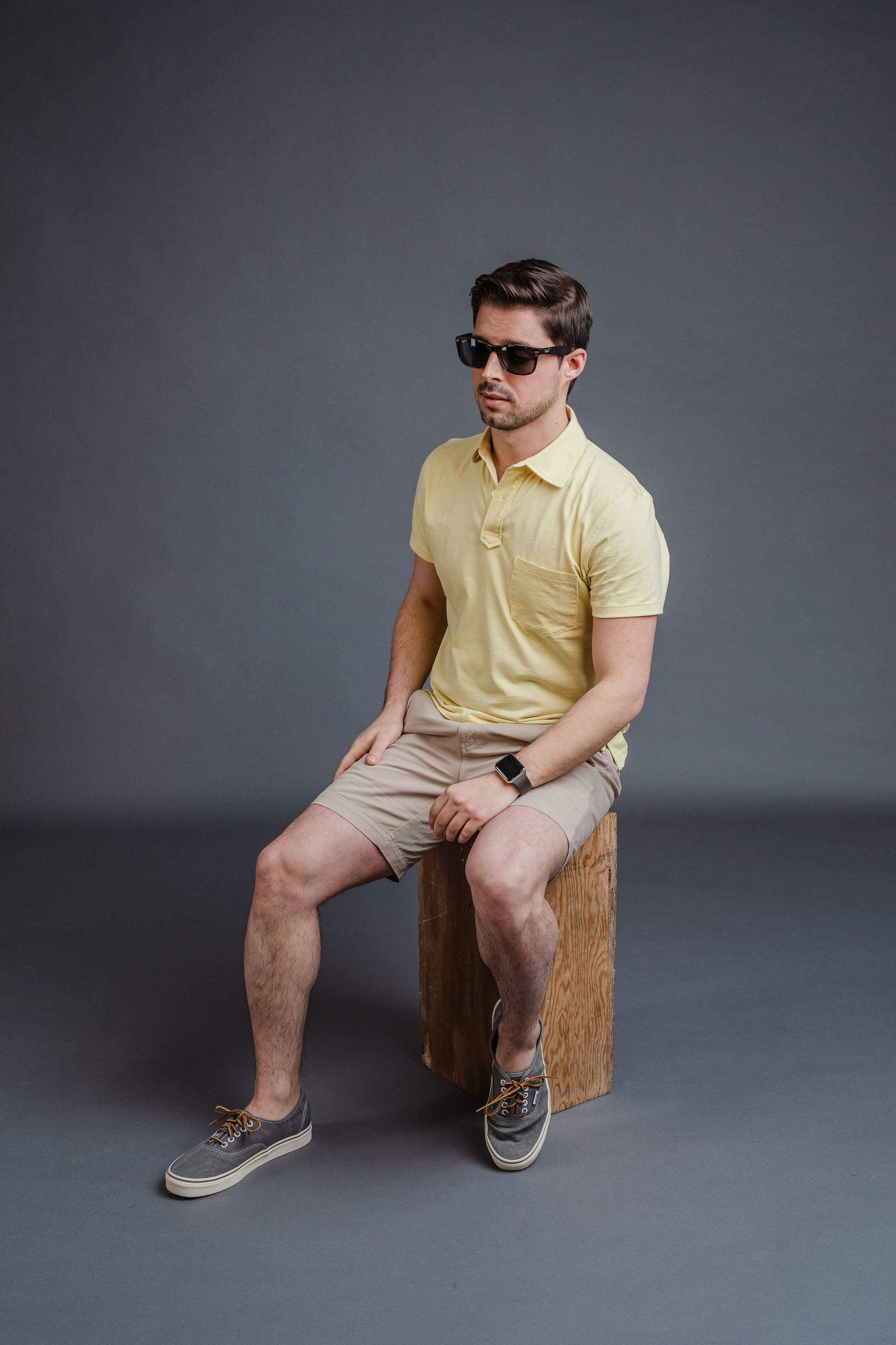Pocket polo with chino shorts