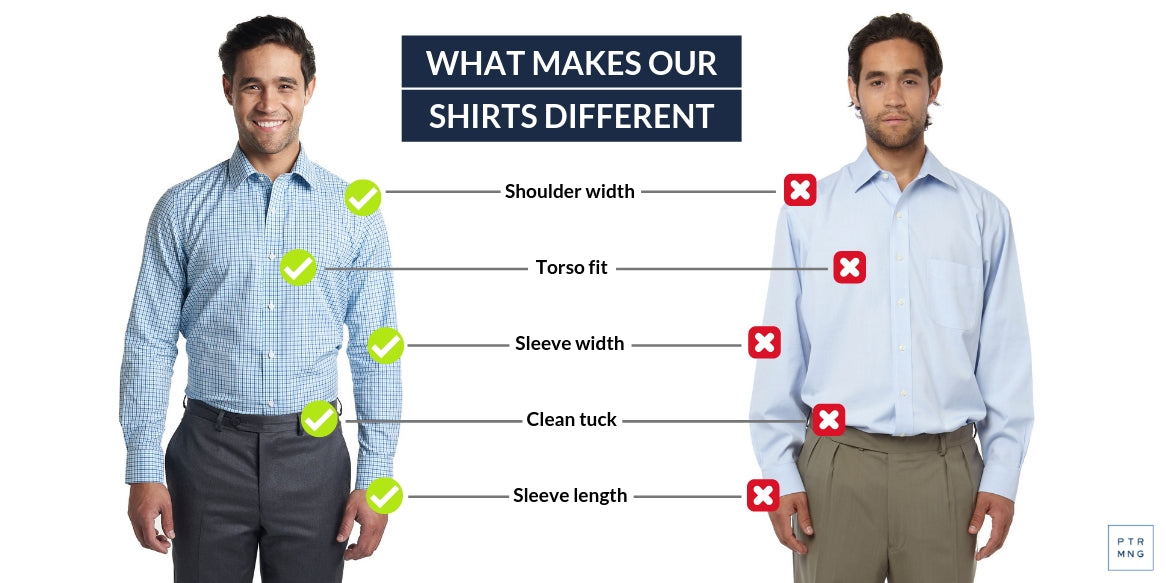 PMNYC dress shirts vs other brands