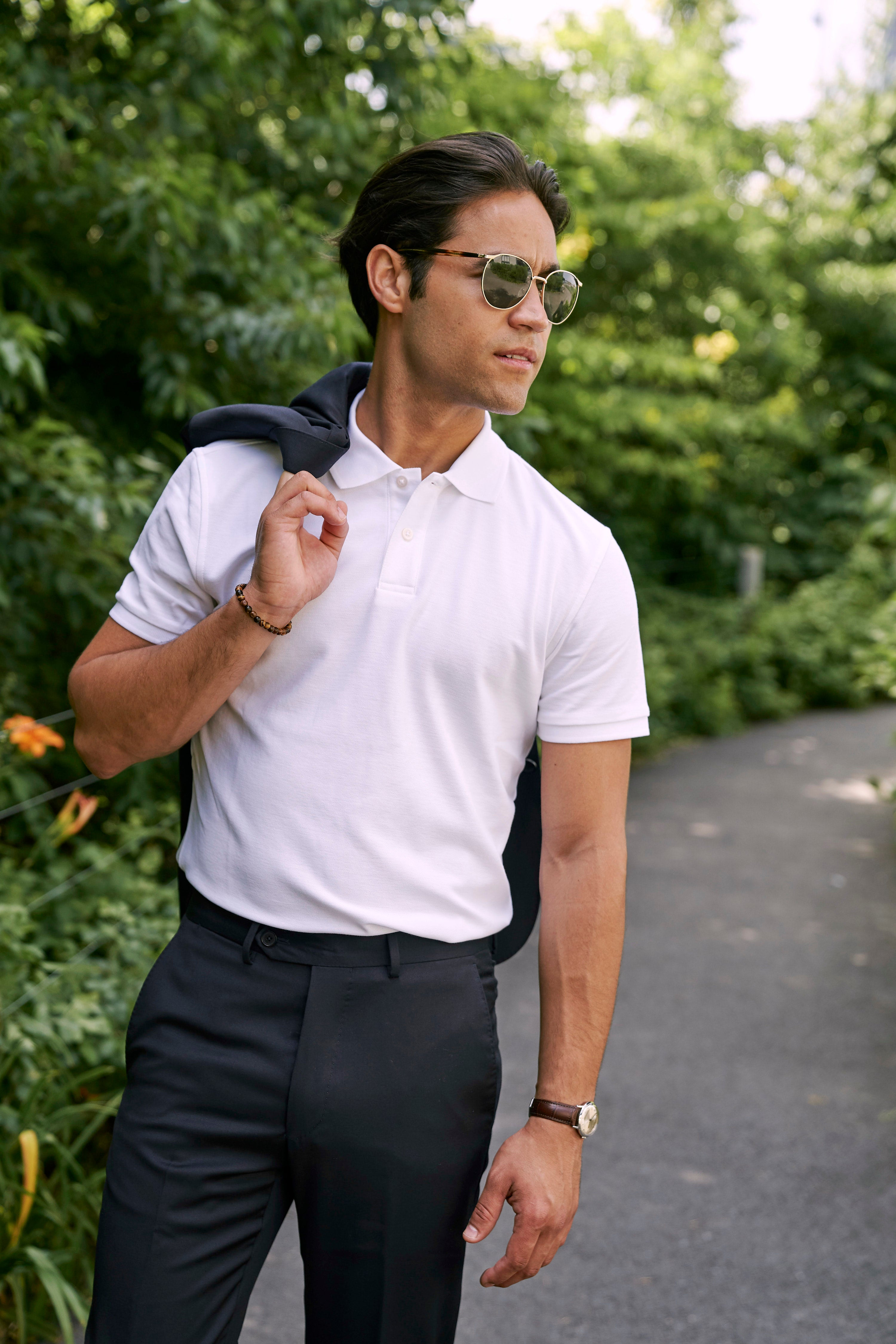 Polo shirt with suit