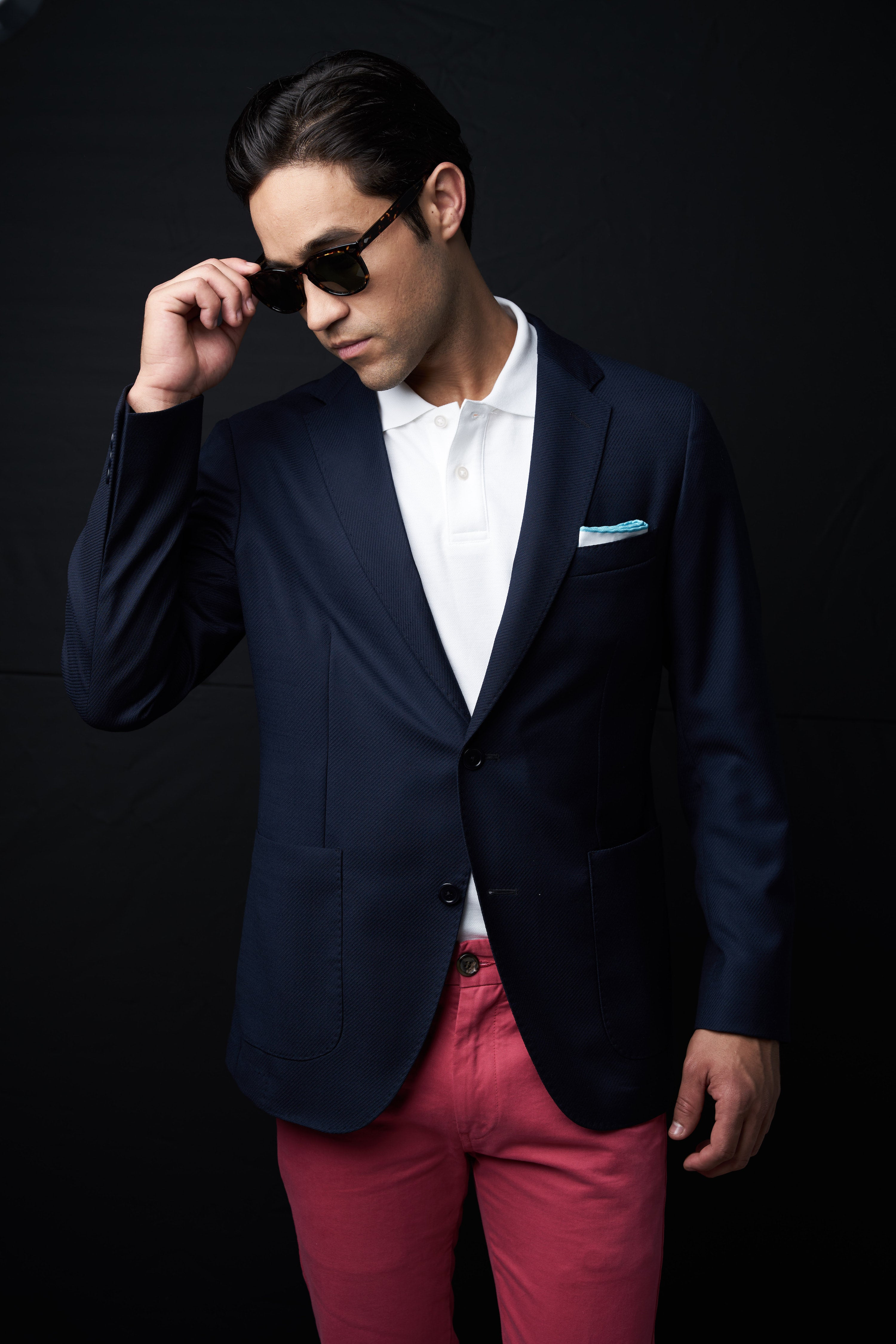 Polo shirt with blazer