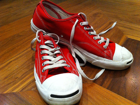 Red Converse Jack Purcells