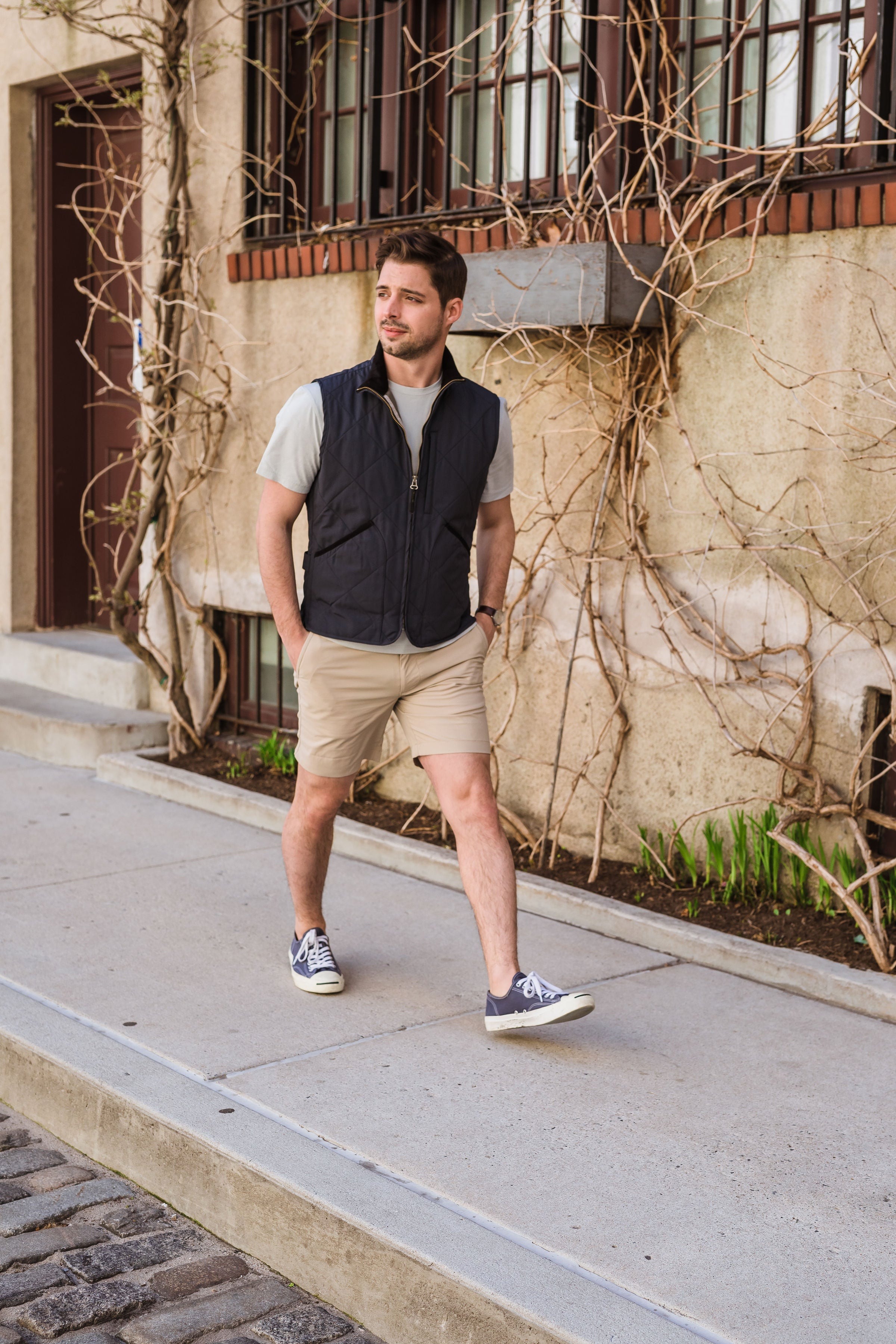 Lightweight vest with shorts