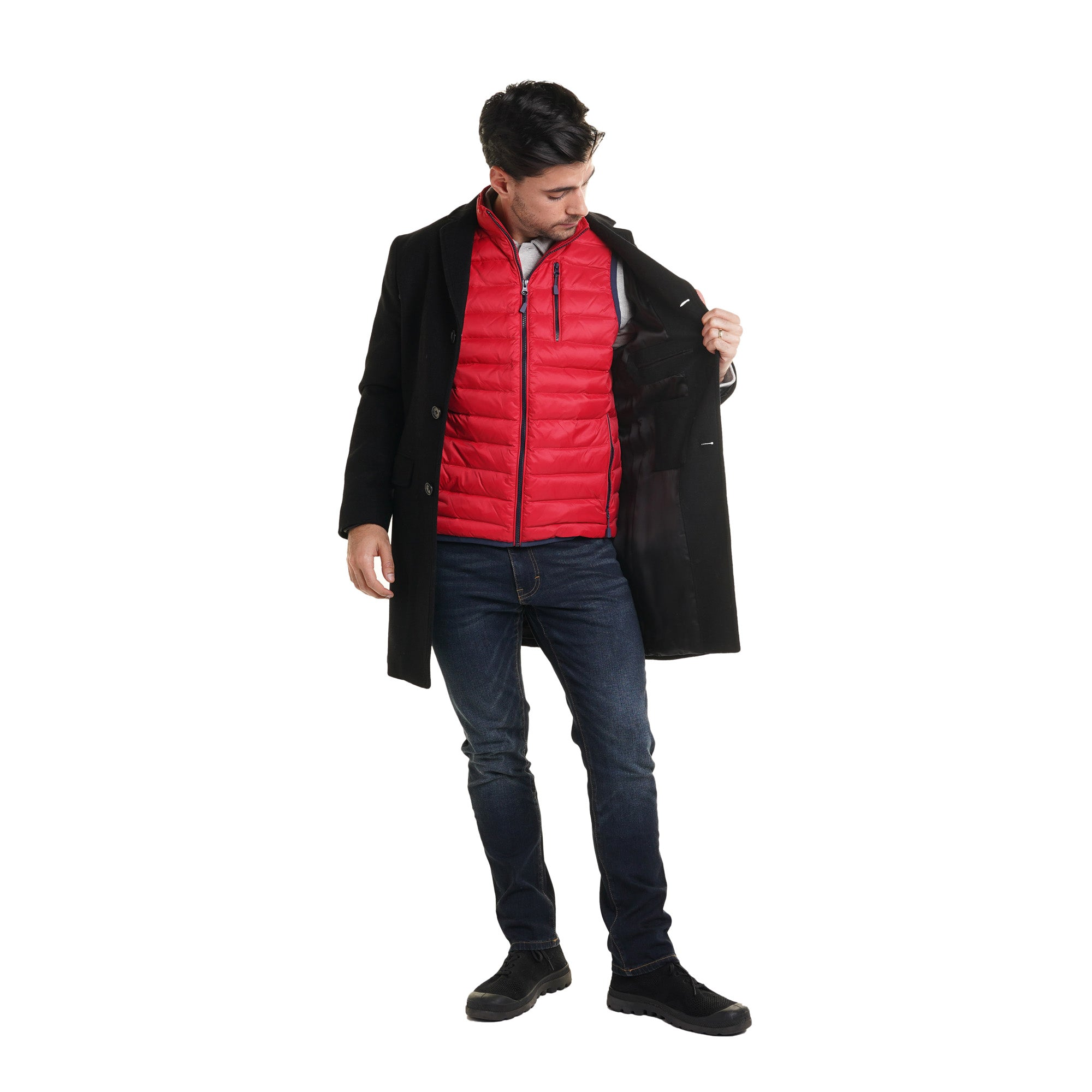 Lightweight Down Vest - Red