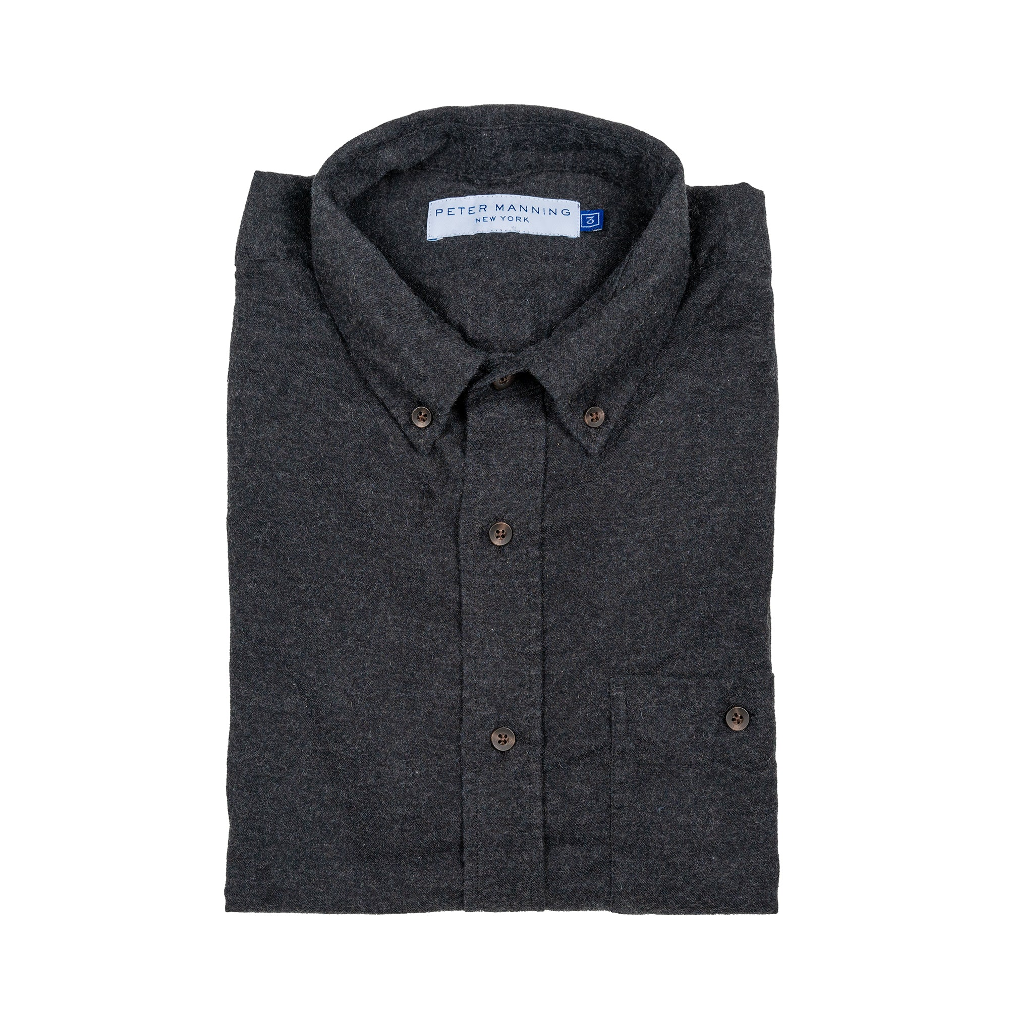 Cotton Cashmere Shirts - Charcoal