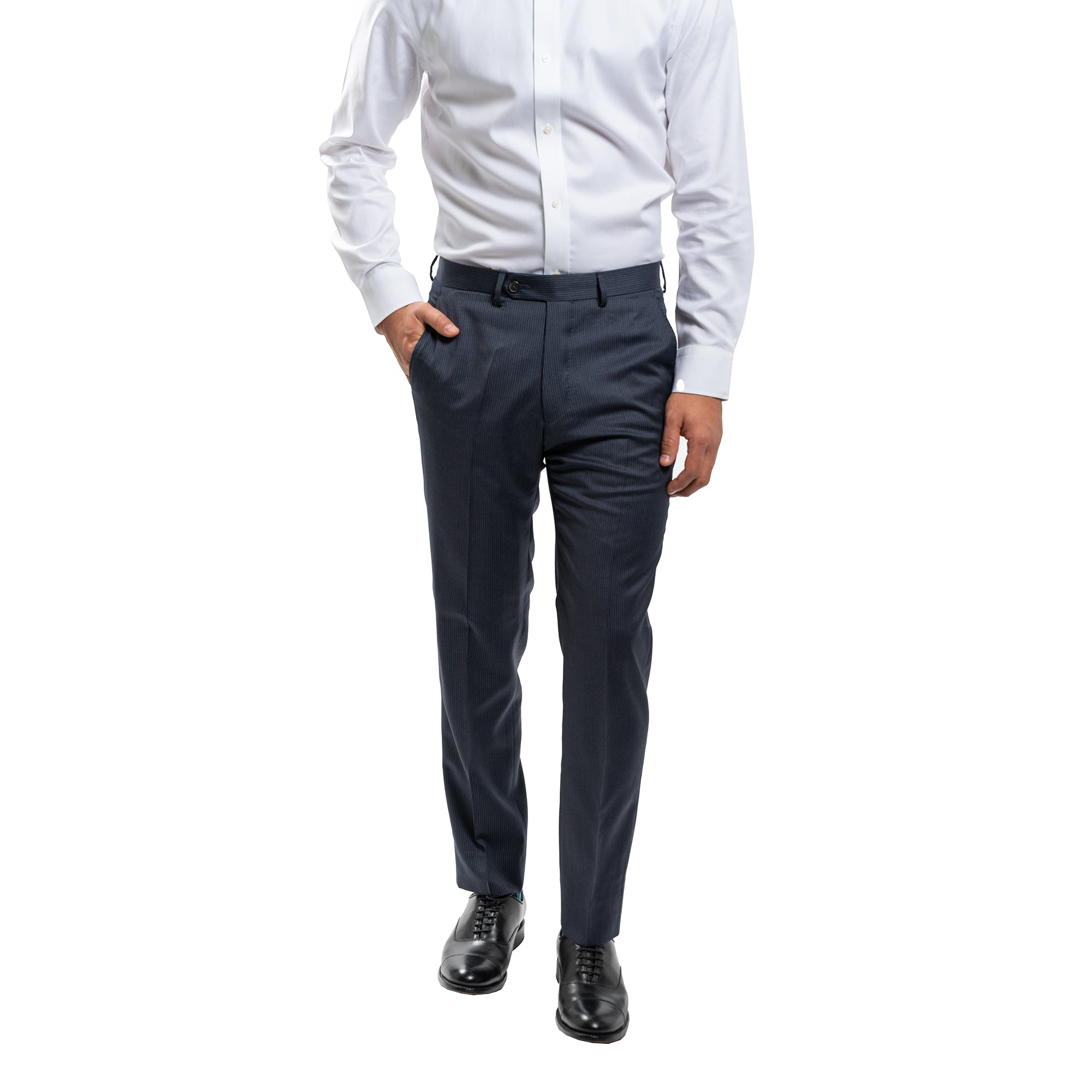 Essex Dress Pants - Navy Pinstripe