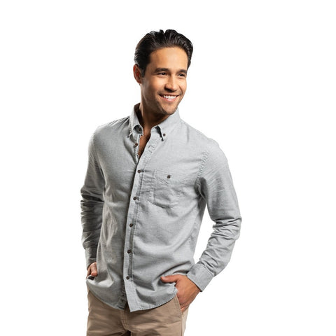 Cotton Cashmere Shirts - Light Grey
