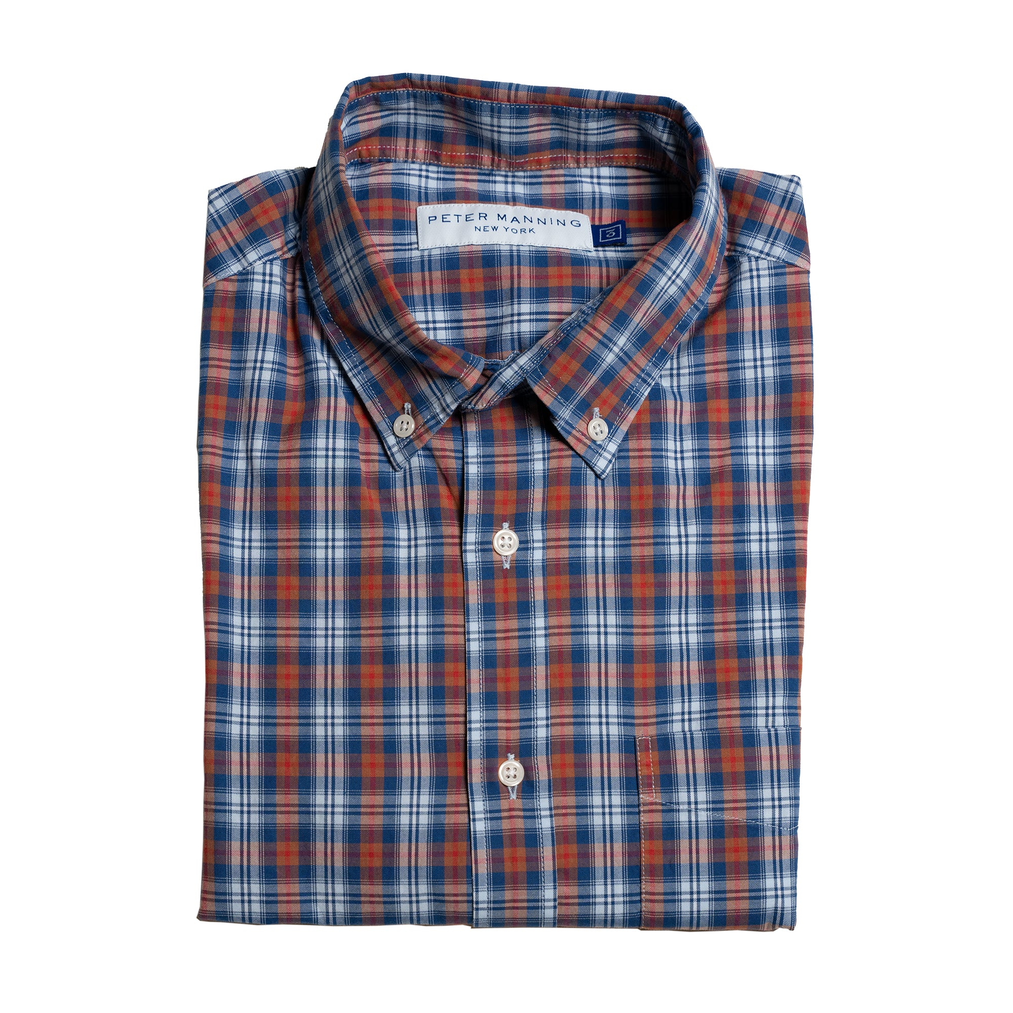 Everyday Oxford - Navy Brown Plaid