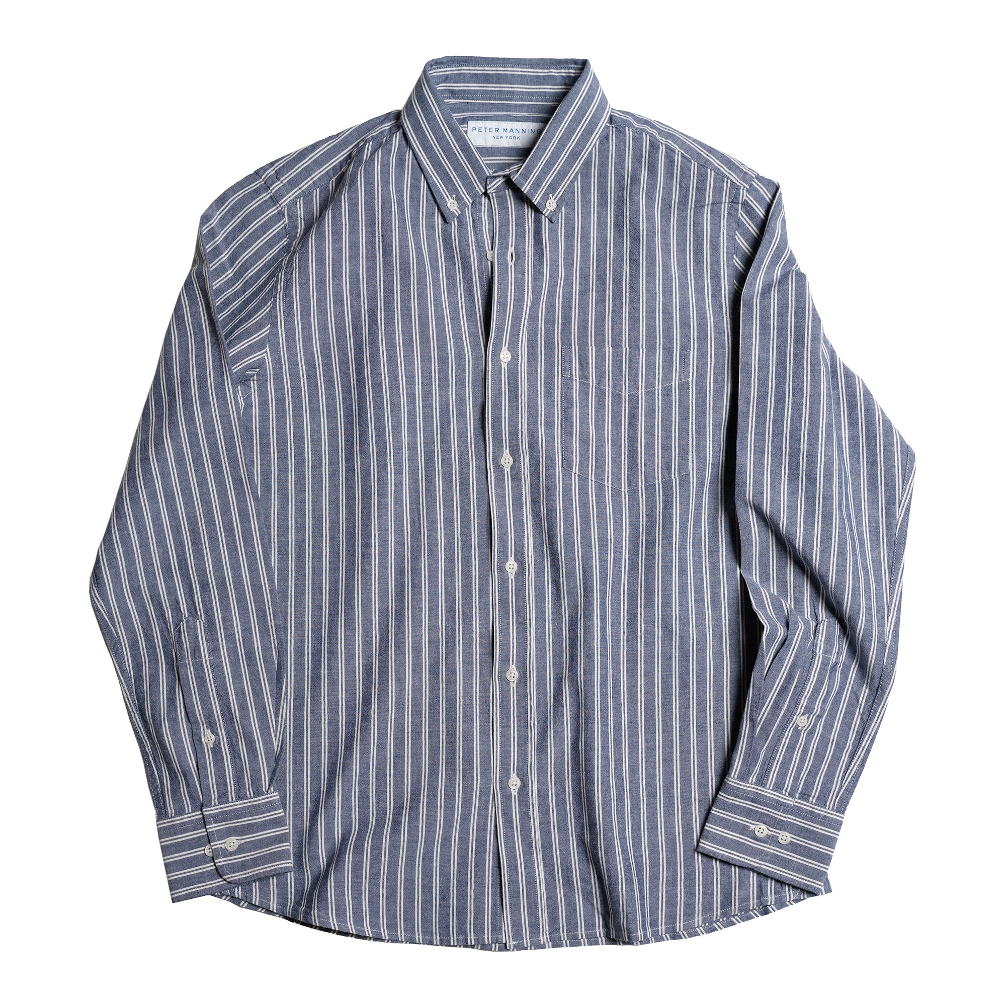 Brooklyn Chambray Shirt - Denim Stripe