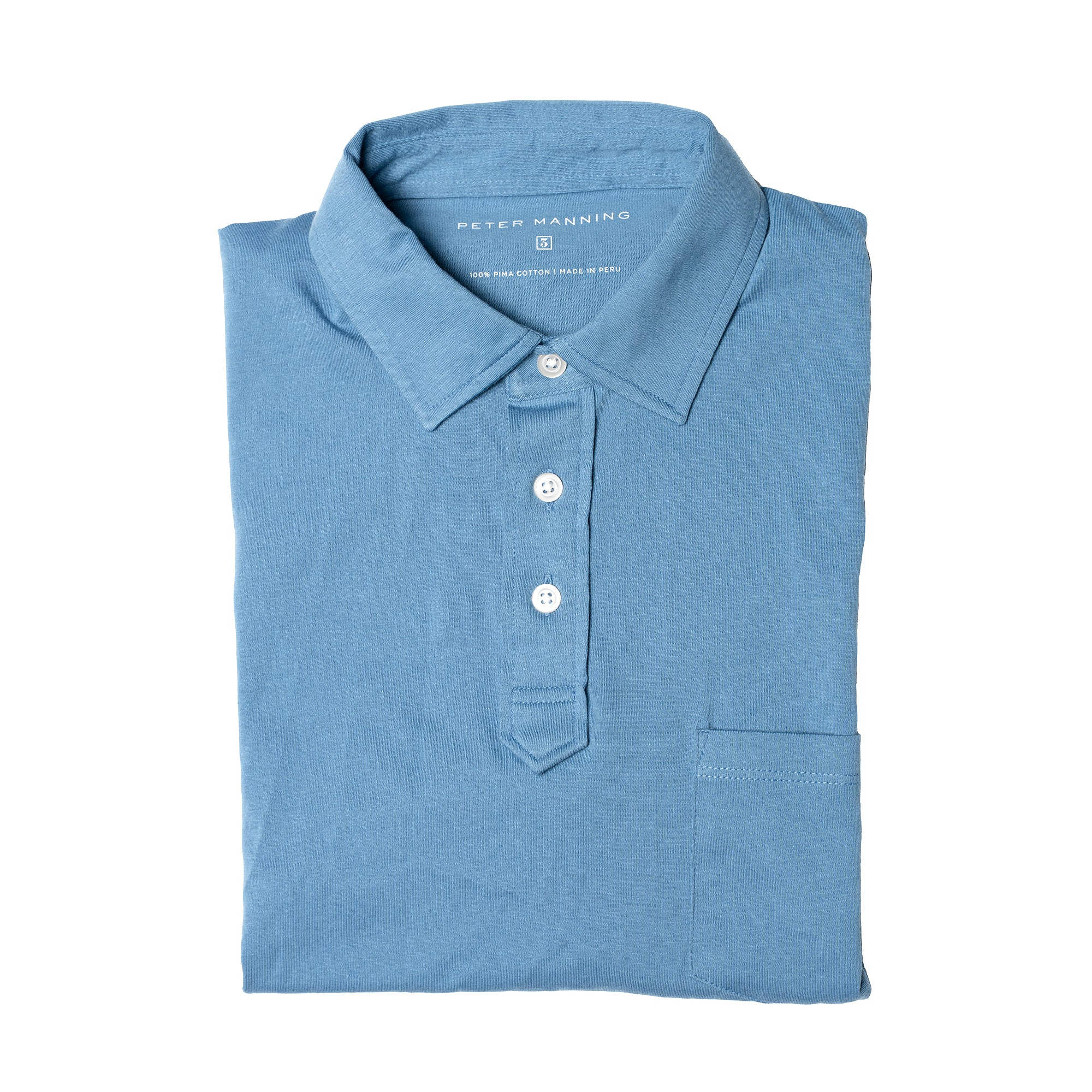 Pocket Polo - Slate Blue