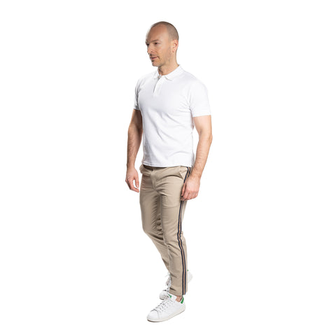 Lightweight Stretch Chinos Slim Fit - Khaki Stripe