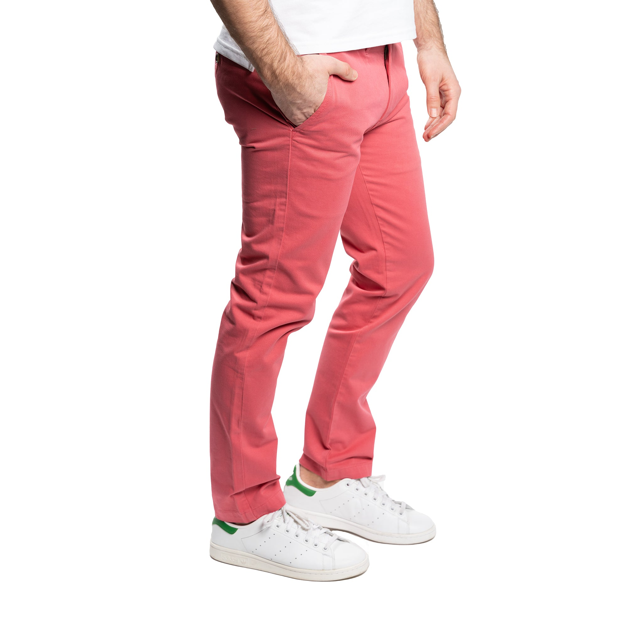 Slim Fit Chinos - Ruby