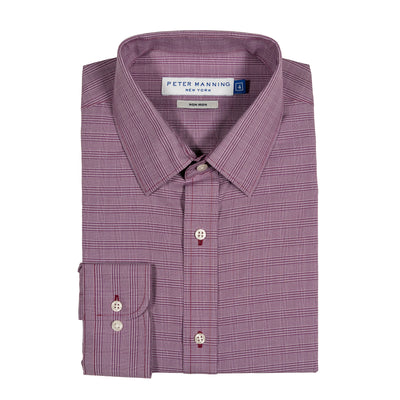 Easy Care Dress Shirt Standard Fit - Purple Plaid