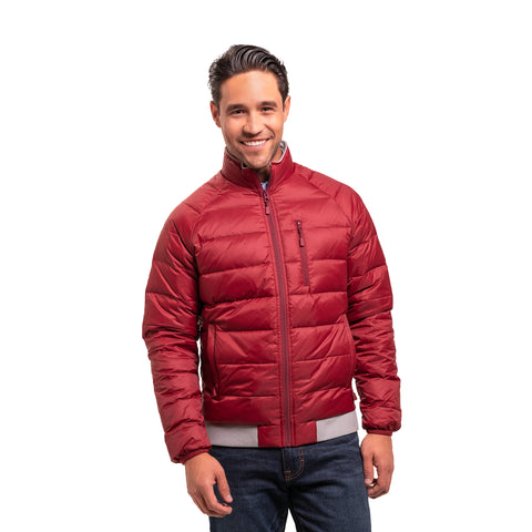 Lightweight Down Jacket - Burgundy