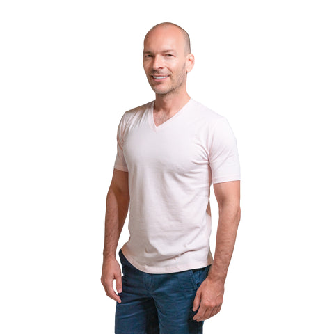 The V Neck T - Pale Pink