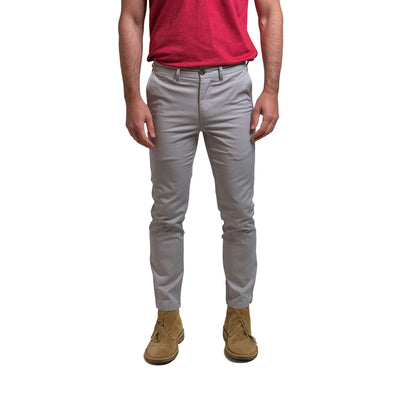 Lightweight Stretch Chinos Slim Fit - Grey