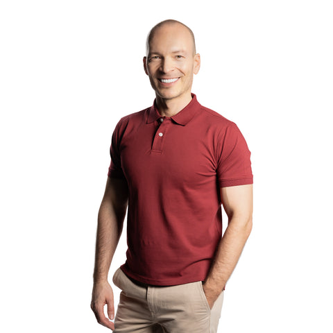 James Polo Shirt - Burgundy