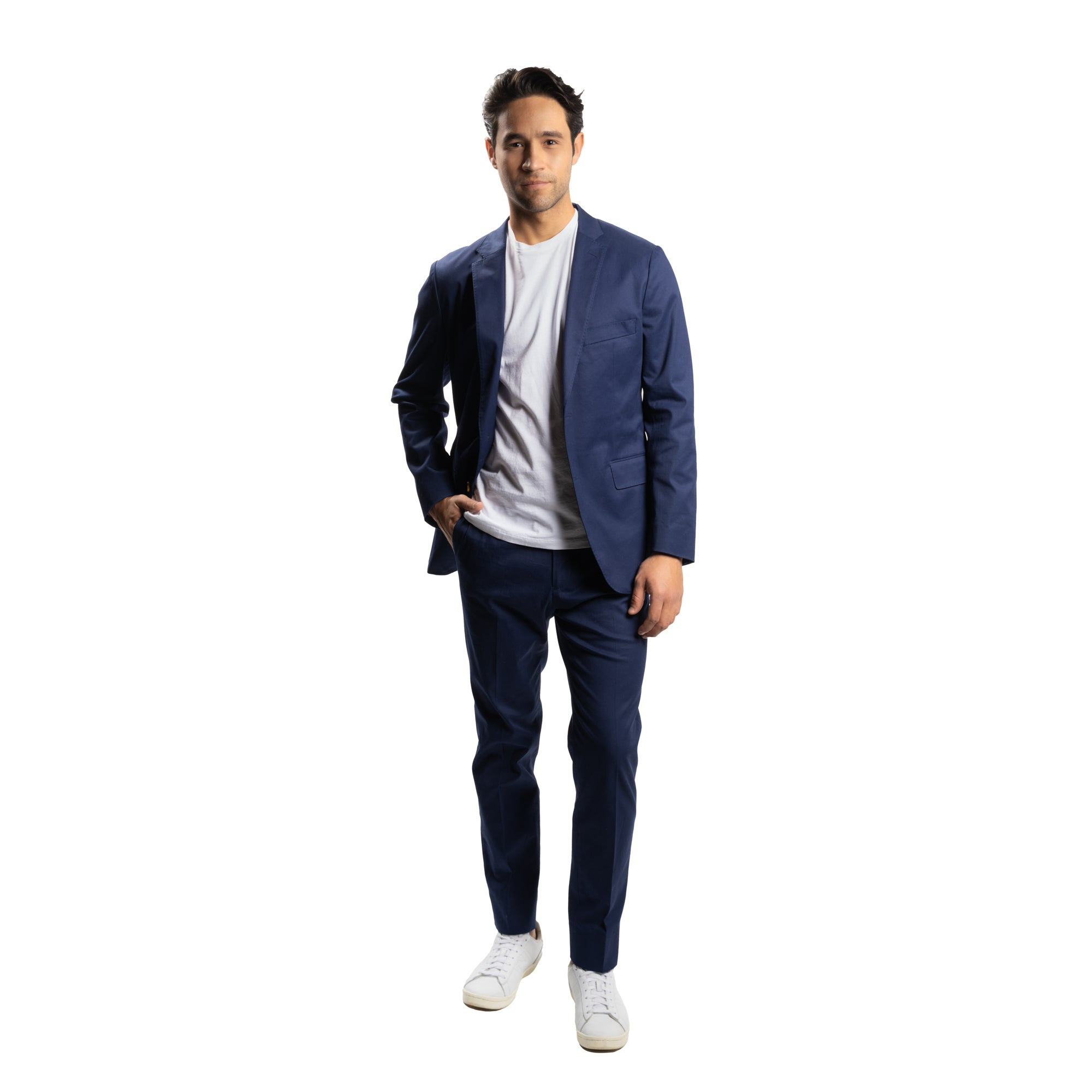 Stretch Cotton Jacket - Navy