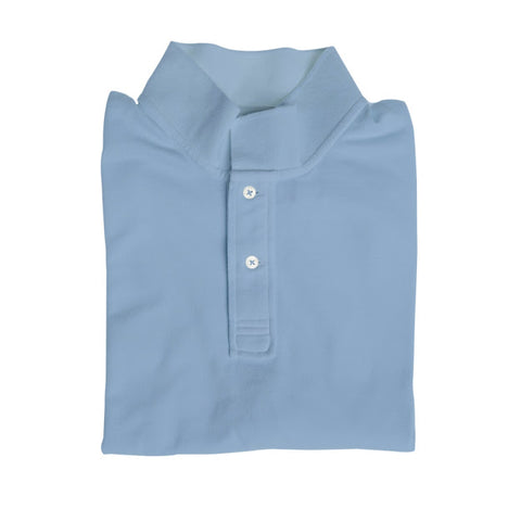 Long Sleeve Polo - Pale Blue