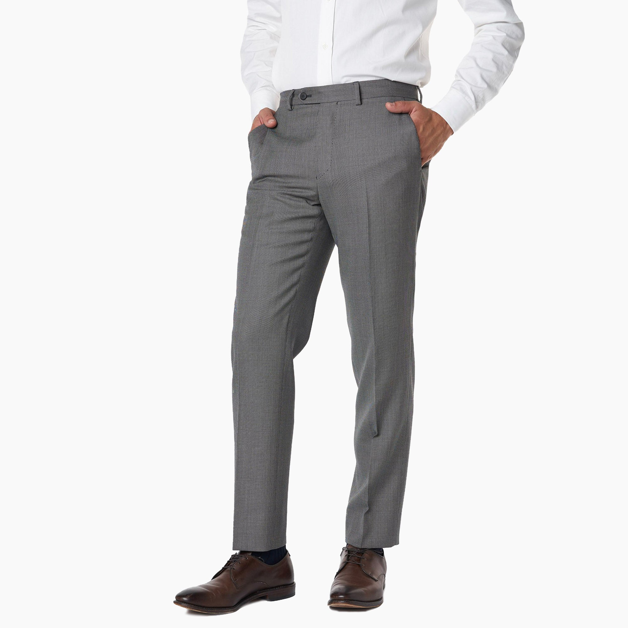 Essex Dress Pants - Grey Birdseye
